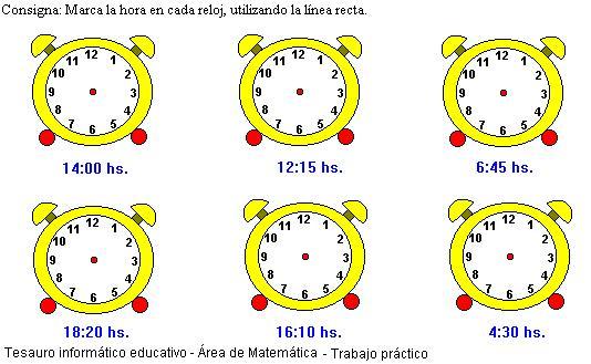 Tercer grado - La hora | Escuela 15 D.E. 8